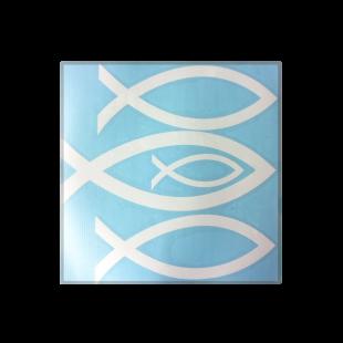 Autocolant - Set 4 semne peste - culoare alba