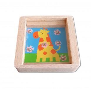Joc din lemn - Girafa - Jucarii pentru copii (3+)