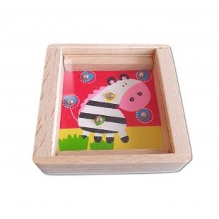 Joc din lemn - Zebra - Jucarii pentru copii (3+)