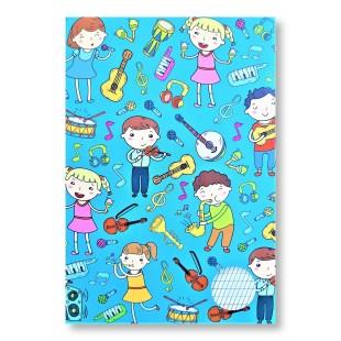 Caiet dictando, Tip 1, A5, 40 file - Copii cu instrumente muzicale