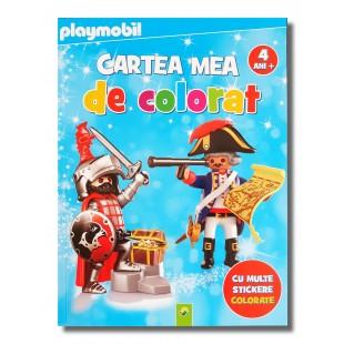 Carte cu activitati - Playmobill - Cartea mea de colorat