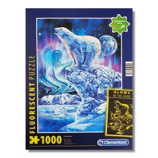 Puzzle flourescent - Urs polar - 1000 piese