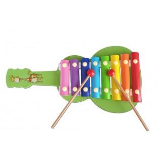 Instrument muzical - Xilofon, verde, in forma de chitara