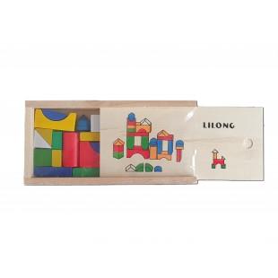 Joc de construit cu forme geometrice