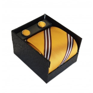 Set cadou pentru barbati – Cravata. batista si butoni manseta – Design Elegant