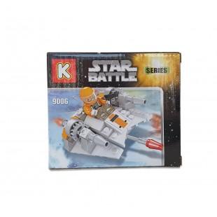 Joc de constructii cu cuburi - Star Battle (110 piese)