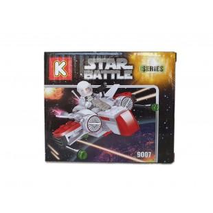 Joc de constructii cu cuburi - Star Battle (117 piese)