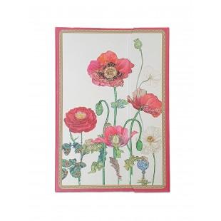 Caiet multifunctional pentru femei/fete – Desgin cu flori de mac