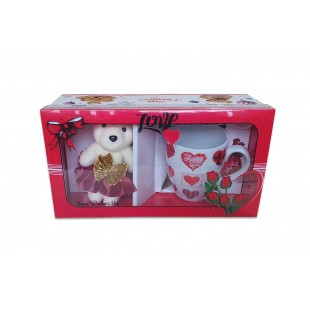 Set cana cu ursulet - Valentine's Day