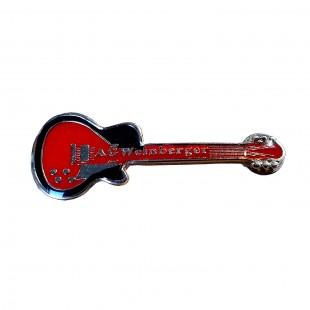 Insigna metalica chitara rosie