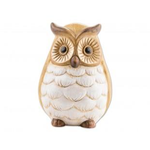 Figurina ceramica decorativa, pictata manual - Bufnita