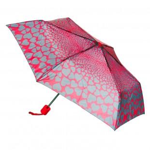 Umbrela adulti pliabila - Model inimi gri (52 cm)