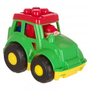 Tractor verde + 7 cuburi mari (18+)