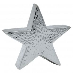 Ornament de Craciun - Stea argintie (15x15x4 cm)