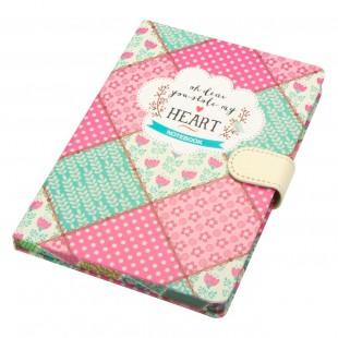 Carnet A5, roz-turcoaz - Oh dear you stole my Heart