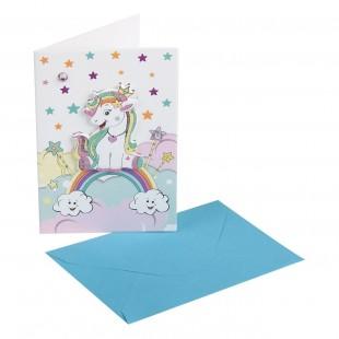 Felicitare mini - Unicorn