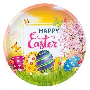 Platou decorativ metalic - Happy Easter