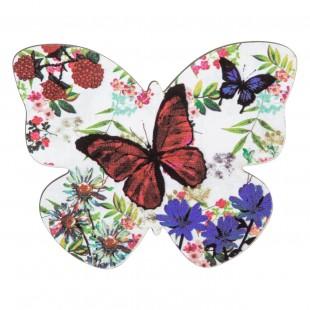 Suport pahar din lemn - Fluture