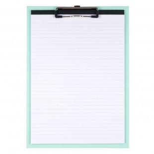 Clipboard simplu turcoaz cu 30 file dictando A4