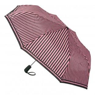 Umbrela adulti pliabila - Neagra cu dungi roz (30 cm)