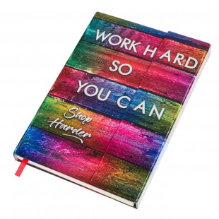 Carnet A5 magnetic - Work hard so you can, Shop Harder