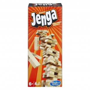 Hasbro Jenga - Joc cu cuburi din lemn pentru copii (6+)