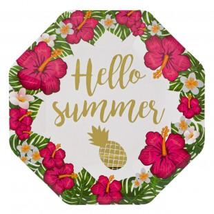 Set farfurie carton - Hello summer 6 buc.