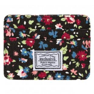 Portofel textil carduri (10 x 7.5 cm)