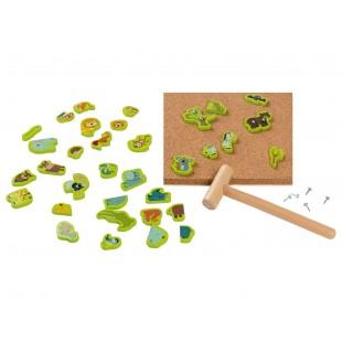 Jucarii din lemn - Joc cu ciocan ( 89 piese)