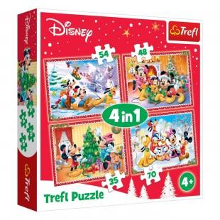 Puzzle Trefl - Mickey, 4in1 - Activitati pentru copii (4+)