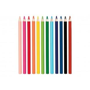 Creioane colorate, din lemn de tei (12 bucati)
