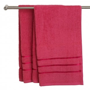 Prosop, bumbac, roz - Ysby (50x90 cm)
