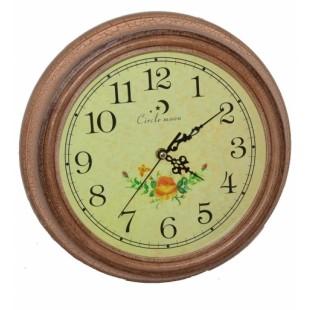 Ceas  rotund din lemn (32x32cm)