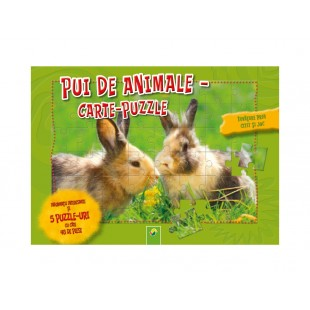 Carte-puzzle Pui de Animale (+ 6 ani)