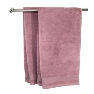 Prosop, bumbac, roz prafuit - Nora (50x100 cm)