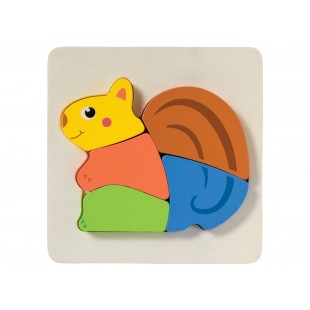 Puzzle din lemn pentru copii - Veverita (1+)