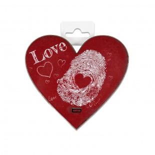 Placheta lemn - Love (10 x 9.5 cm)