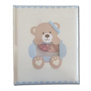 Album foto ursulet albastru baby (25x30x3.5cm)