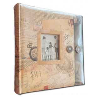 Album foto postcard, cu rama foto in coperta, 200 poze