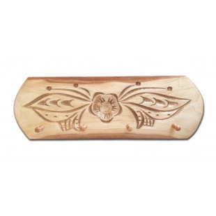 Cuier, suport chei - din lemn cu modele de flori ( 34.5x11.5cm)