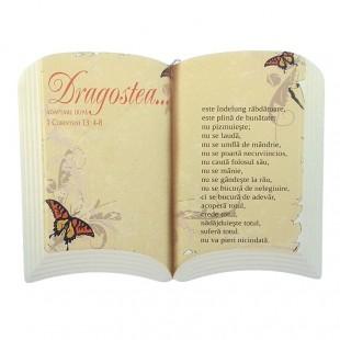 Aplica carte - Dragostea... (15x11 cm)