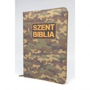 Szent Biblia - Közepes Biblia, Katona Mintás, Cipzárral, Regiszterrel, Károli Gáspár Forditása (Biblia medie in lb. maghiara, fermoar, index)