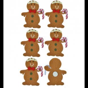 Autocolante decorative de Craciun - Om biscuite, 6 buc. (3+)