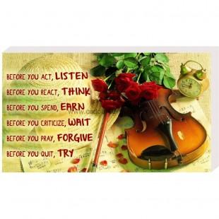 Before you act, listen- Placheta birou