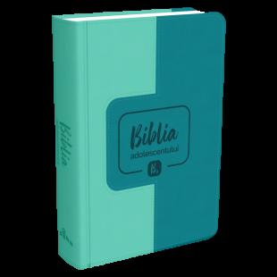Biblia adolescentului - marime mica, coperta imitatie piele, verde, trad. Cornilescu