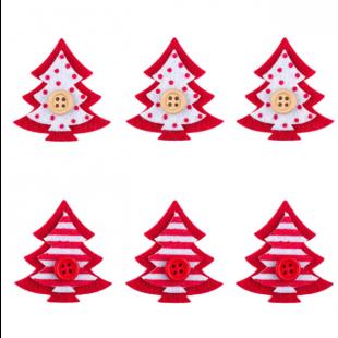 Autocolante decorative de Craciun - Brazi rosii, 6 buc. (3+)