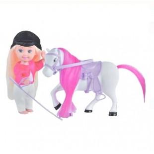 Papusa cu cal alb - Cute girl - Jucarii pentru copii (3+)