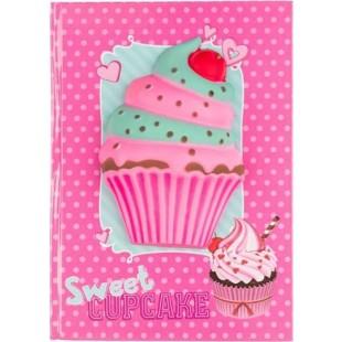 Carnet A5, roz - Sweet CUPCAKE