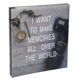 Album foto - I want to make memories all over the world (27x29,5)