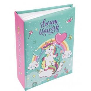 Album foto, verde-roz - Dream like a Uncicorn (13x17cm)